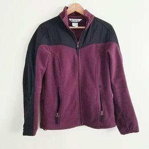 Columbia Full Zip Fleece Jacket Size L